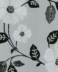 Poppy Silver Modern Floral by  Brewster Wallcovering
