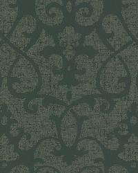Octavia Brown Damask Swirl by  Brewster Wallcovering