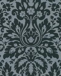 Mirza Black Damask by  Brewster Wallcovering