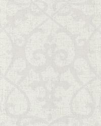 Octavia Champagne Damask Swirl by  Brewster Wallcovering