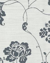 Amizmiz Grey Floral Trail by  Brewster Wallcovering