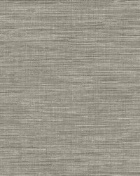 Exhale Grey Faux Grasscloth Wallpaper by