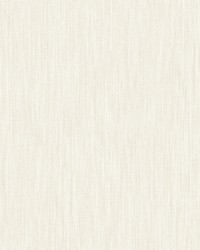 Chenille Off-White Faux Linen Wallpaper by