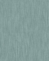Chenille Teal Faux Linen Wallpaper by