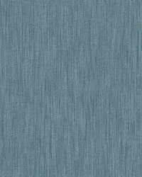 Chenille Blue Faux Linen Wallpaper by