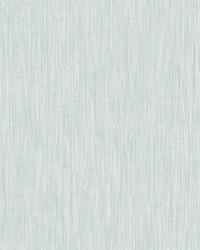 Chenille Light Blue Faux Linen Wallpaper by