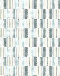 Burgen Teal Geometric Linen Wallpaper by