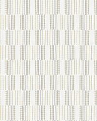 Burgen Grey Geometric Linen Wallpaper by