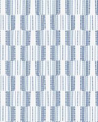 Burgen Blue Geometric Linen Wallpaper by