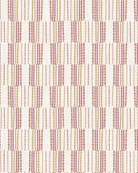 Burgen Orange Geometric Linen Wallpaper by