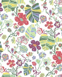 Gwyneth Multicolor Floral Wallpaper by