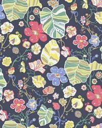 Gwyneth Navy Floral Wallpaper by