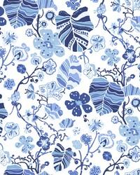 Gwyneth Indigo Floral Wallpaper by