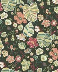 Gwyneth Dark Green Floral Wallpaper by