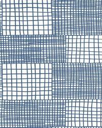 Maxwell Blue Geometric Wallpaper by