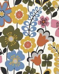 Piper Multicolor Floral Wallpaper by