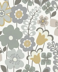 Piper Lavender Floral Wallpaper by