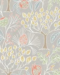Shiloh Light Grey Botanical Wallpaper by