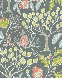 Shiloh Grey Botanical Wallpaper by