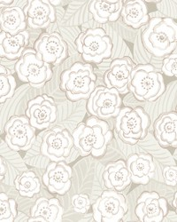 Emery Mauve Floral Wallpaper by