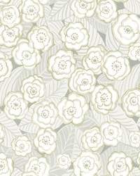Emery Grey Floral Wallpaper by