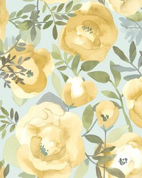 Orla Yellow Floral Wallpaper by