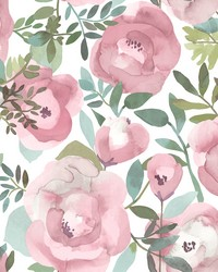 Orla Pink Floral Wallpaper by