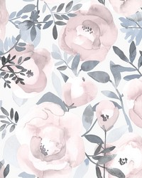 Orla Purple Floral Wallpaper by