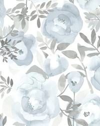 Orla Blue Floral Wallpaper by