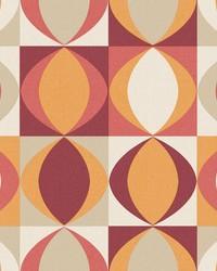 Archer Red Linen Geometric Wallpaper by