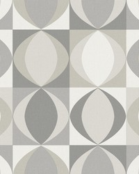 Archer Grey Linen Geometric Wallpaper by