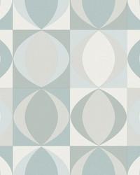 Archer Light Blue Linen Geometric Wallpaper by