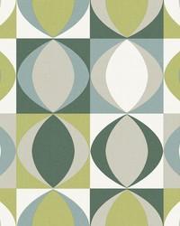 Archer Green Linen Geometric Wallpaper by