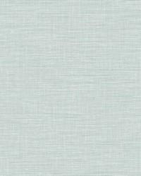 Exhale Light Blue Faux Grasscloth Wallpaper by