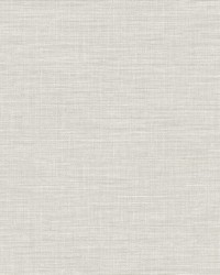 Exhale Light Grey Faux Grasscloth Wallpaper by