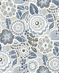 Lucy Grey Floral Wallpaper by