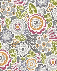 Lucy Multicolor Floral Wallpaper by