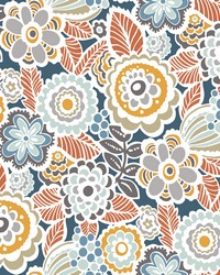 Lucy Navy Floral Wallpaper by