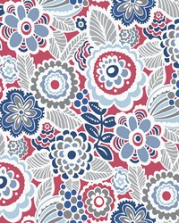 Lucy Red Floral Wallpaper by