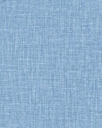 Jocelyn Blue Faux Linen Wallpaper by