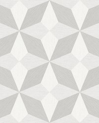 Valiant Off-White Faux Grasscloth Geometric Wallpaper by