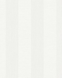 Intrepid White Faux Grasscloth Stripe Wallpaper by