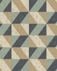 Cerium Multicolor Concrete Geometric Wallpaper by