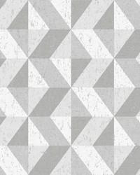 Cerium Grey Concrete Geometric Wallpaper by
