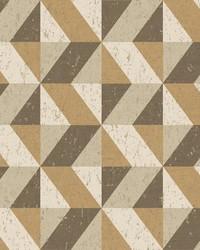 Cerium Light Brown Concrete Geometric Wallpaper by
