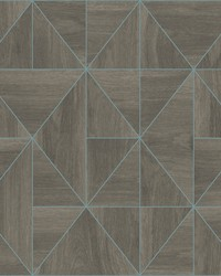 Cheverny Coffee Geometric Wood Wallpaper by
