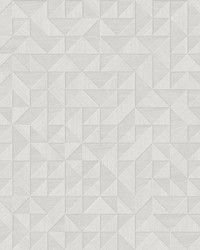 Gallerie Light Grey Geometric Wood Wallpaper by