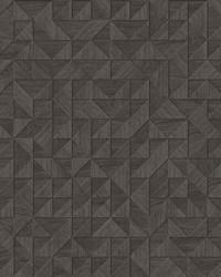 Gallerie Dark Brown Geometric Wood Wallpaper by