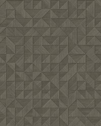 Gallerie Taupe Geometric Wood Wallpaper by