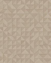Gallerie Beige Geometric Wood Wallpaper by
